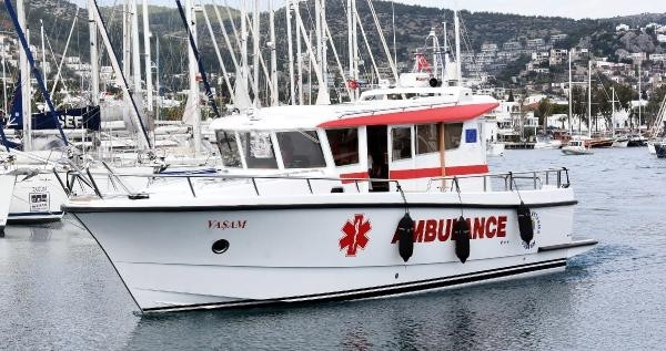 bodrum deniz ambulansı DENİZ AMBULANSIMIZ ŞİMDİ DAHA GÜVENLİ… bodrum deniz ambulansi