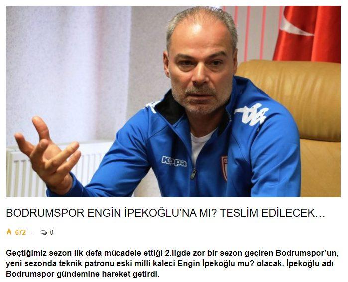 engin ipekoğlu BODRUMSPOR, ENGİN İPEKOĞLU'NA EMANET… arenabodrumhaber engin ipekoglu