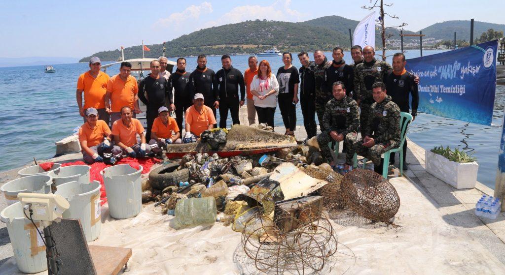 mevi temizlik MAVİ TEMİZLİK, GÖLKÖY'DE DEVAM ETTİ… golkoyde deniz dibi temizligi 3