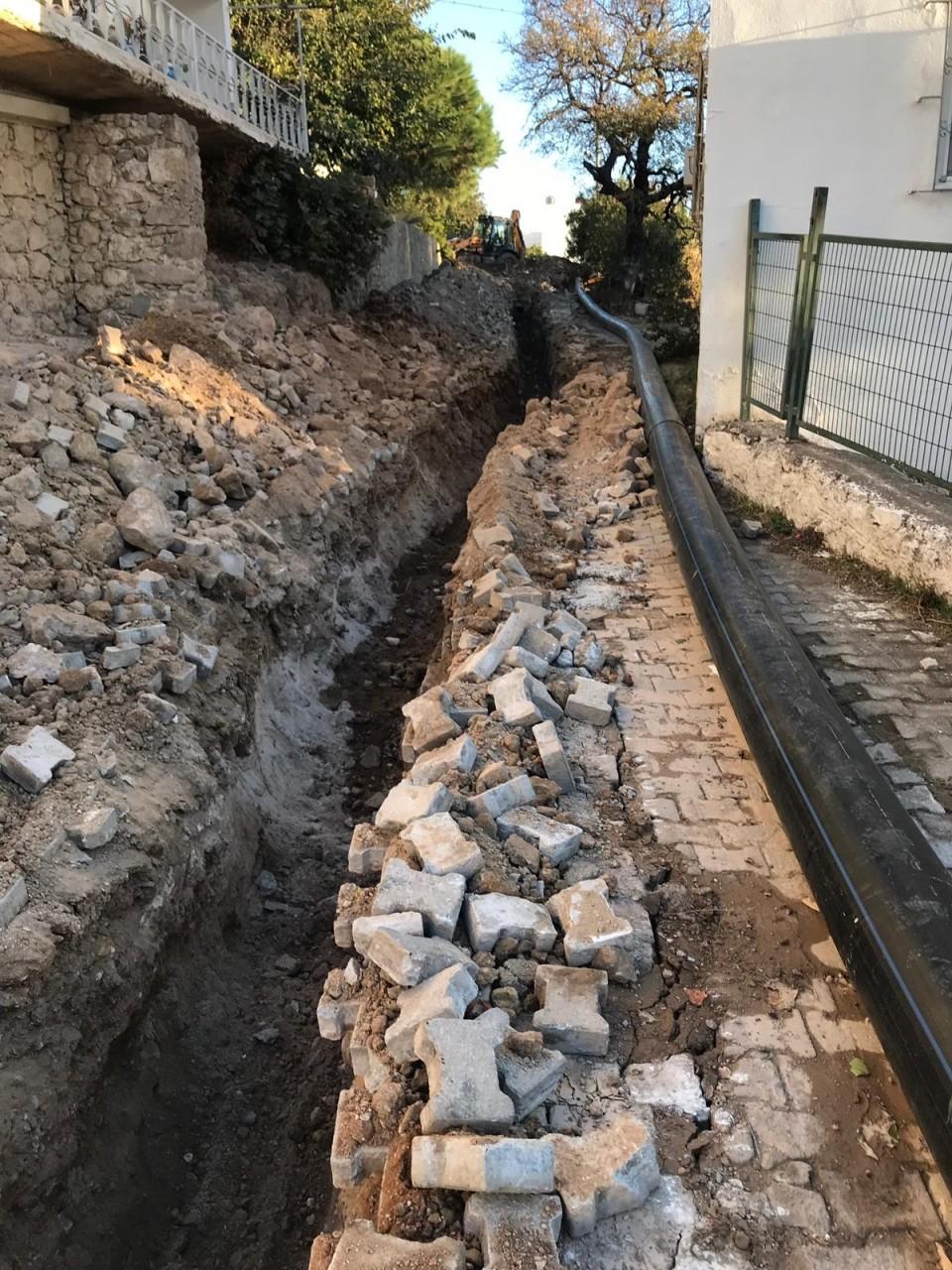 bodruma İÇme suyu hatti ORTAKENT YAHŞİ'YE YENİ İÇME SUYU HATTI… 6303335428 1
