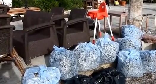 bodrum fırtına BODRUM'DA FIRTINA SONRASI ESNAF TEMİZLİK YAPTI… bodrum temizlik 3