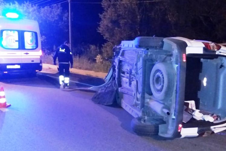 bodrum kaza ARACIYLA 150 METRE SÜRÜKLENDİ… bodrum kaza