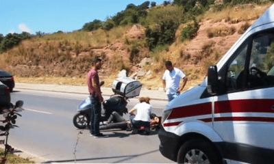 kıbrıs şehitleri caddesi ÖNÜNDE SEYREDEN ARACA ÇARPINCA HAFİF YARALANDI… bodrum motosiklet kazasi 400x240