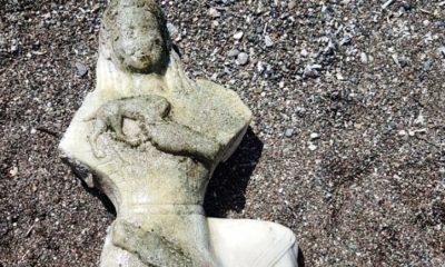 datça DENİZDEN ÇIKAN KADIN HEYKELİ  ŞAŞIRTTI… denizde yuzerken kadin heykeli buldu b6b2b 400x240