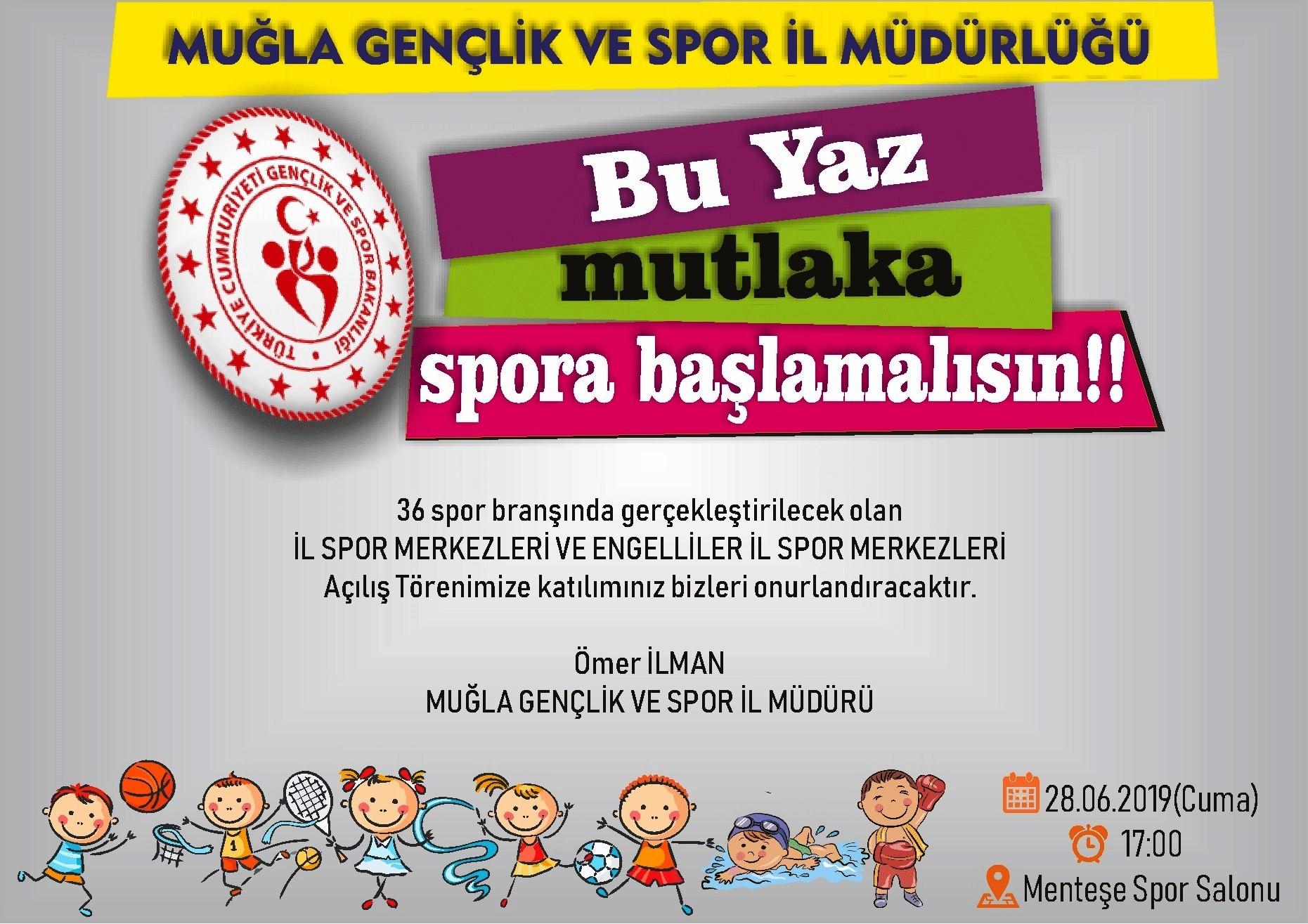 muğla gençlik ve spor İl müdürlüğü t MUĞLA İL SPOR MERKEZLERİ BAŞLIYOR… XSAXAXA