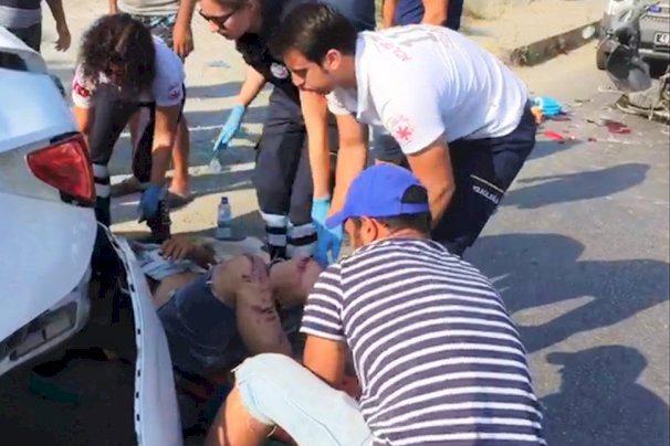 bodrum kaza OTOMOBİLE ÇARPINCA AĞIR YARALANDI… bodrum kaza