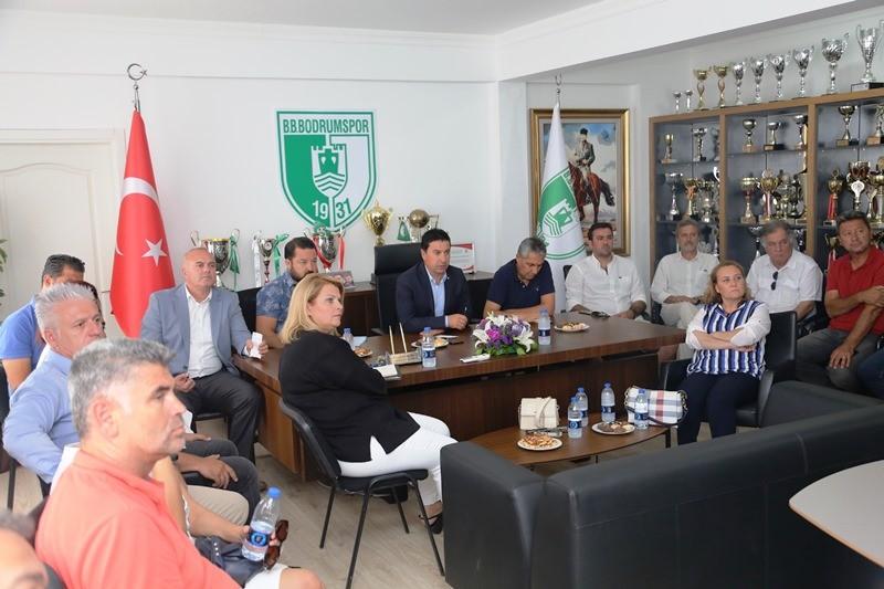 bodrum belediyesi BODRUMSPOR BAŞKAN ARAS'A SUNUM YAPTI… bodrumspor sunum yapt   7