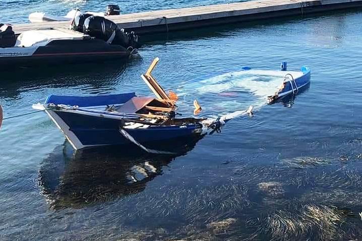 bodrum kaza BODRUM'DA GÖREV YAPAN GAZETECİLER ÖLÜMDEN DÖNDÜ… gazetecilerin teknesine carpti 1