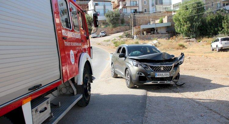 bodrum, FRENİ TUTMAYAN CİP DE KORKULU ANLAR YAŞANDI… kaza     rkan mahallesi