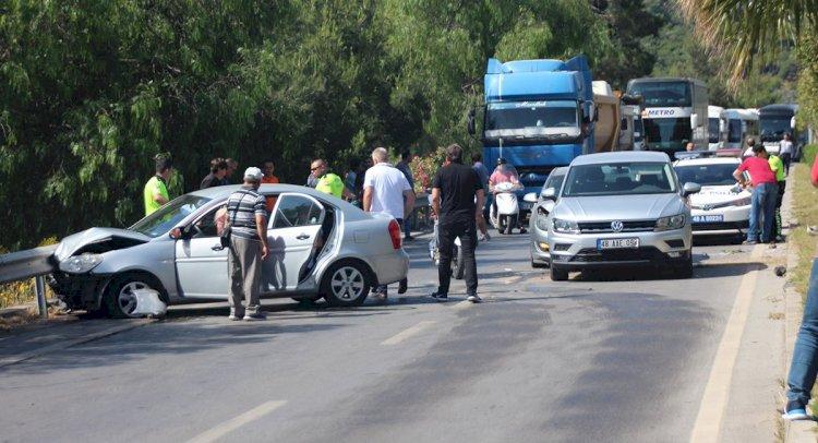 bodrum ZİNCİRLEME TRAFİK KAZASI… kaza 4 ara