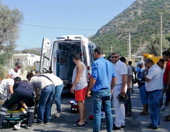 kaza, MOTORSİKLET KAZASI SÜRÜCÜNÜN DURUMU AĞIR… yal  kavak motor kazas   560x433