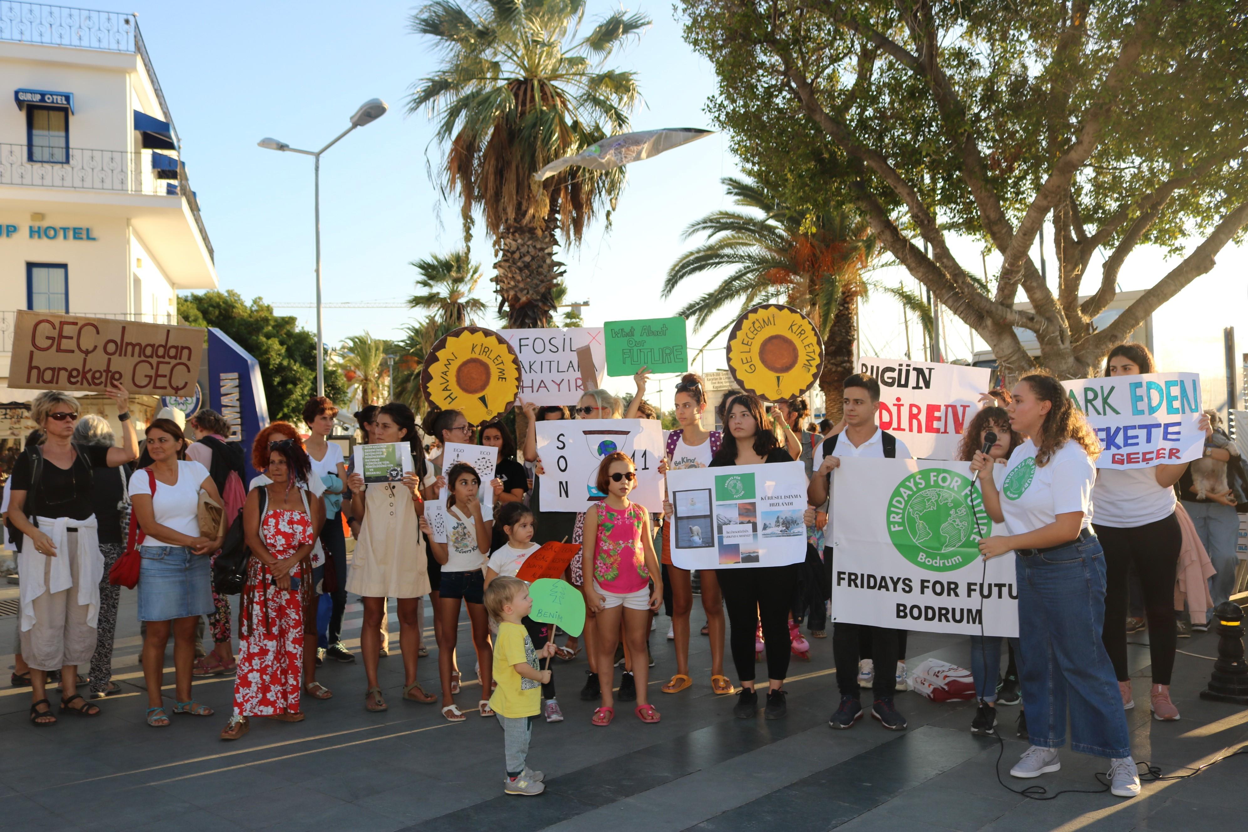 iklim değişikliğine bodrum'dan destek FARKINA VARAN HAREKETE GEÇER… ahmet aras iklim eylemi 3