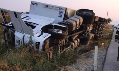 bodrum-milas karayolu DİREKSİYON HAKİMİYETİNİ KAYBETTİ… t  r kaza 400x240