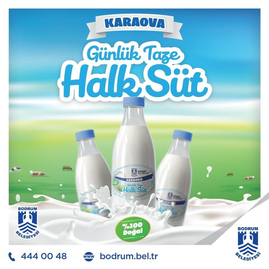 bodrum belediyesi halk süt HALK SÜT TAMAM… SIRADA YOĞURT, KAYMAK VE PEYNİR VAR… bodrum halk sut