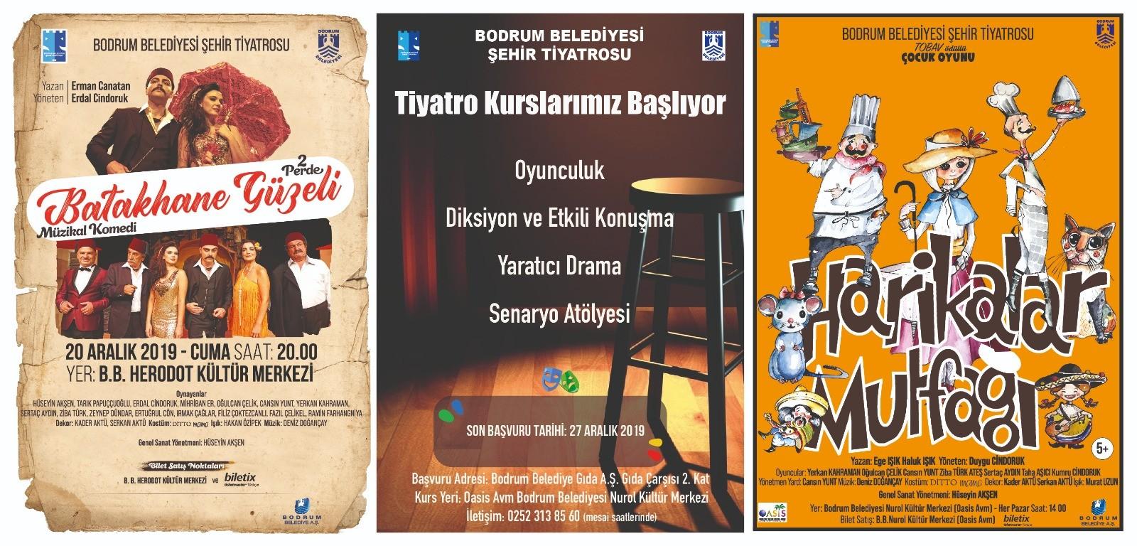 bodrum belediyesi şehir tiyatrosu Tiyatro kursları 2 Ocak'ta başlıyor… bodrum sehir tiyatrosu kurs 2