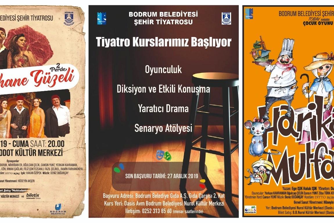 bodrum belediyesi şehir tiyatrosu Tiyatro kursları 2 Ocak'ta başlıyor… bodrum sehir tiyatrosu kurs