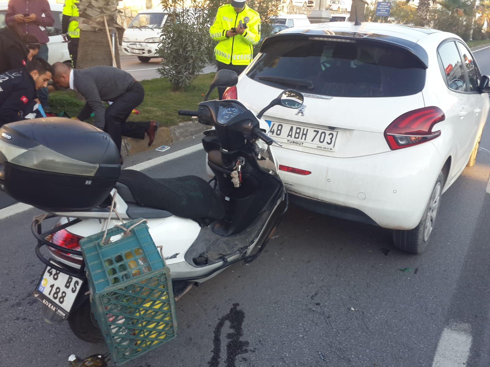 bodrum asayiş Bodrum'da meydana gelen zincirleme kazada bir kişi yaralandı… bodrum trafik kazasi 1