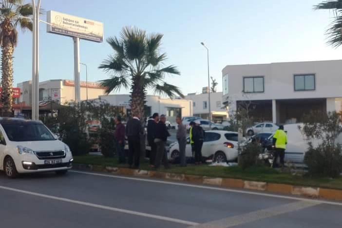 bodrum asayiş Bodrum'da meydana gelen zincirleme kazada bir kişi yaralandı… bodrum trafik kazasi 2