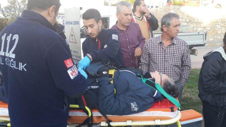 Bodrum'da meydana gelen zincirleme kazada bir kişi yaralandı…