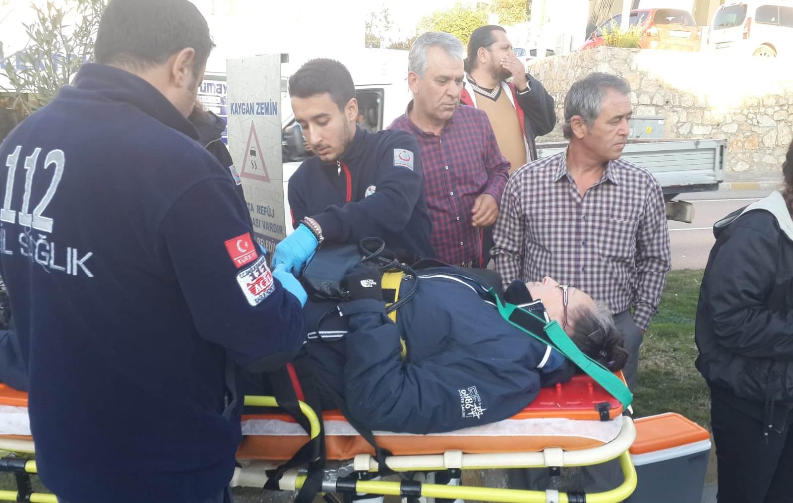 bodrum asayiş Bodrum'da meydana gelen zincirleme kazada bir kişi yaralandı… bodrum trafik kazasi 4