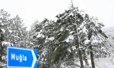 Muğla'ya yılın ilk karı düştü… mugla kar 2 400x240