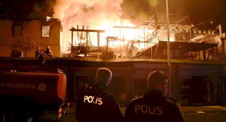 Gümbet'te gece çıkan yangın büyük panik yaşattı… gumbet yangin 2