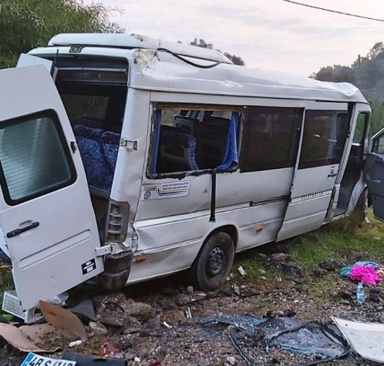 bodrum kaza Servis takla attı,11 İşçi yaralandı… gundogan kaza 1 560x533