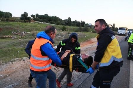 milas kaza 7 Aylık hamile kadınında yaralandığı kaza korkuttu… milas kaza