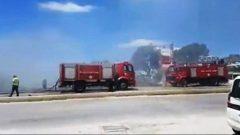 Gökçebel'de iki iş yeri yandı…