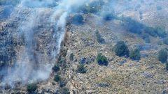 Orman Yangınına Havadan Müdahale Ediliyor…