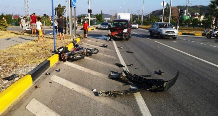 Kamyonetle Çarpışan Motosikletin Sürücüsü Öldü…