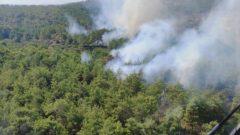 Orman Yangınına Hava Ve Karadan Müdahale Ediliyor…