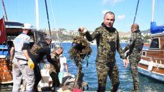 Bodrum'da Dalgıçlar Denizin Dibini Temizledi…