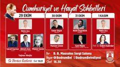 """Bodrum'da """"Cumhuriyet Ve Hayat Sohbetleri""""…"""