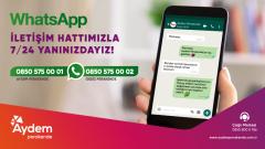 Aydem Müşterilerine Bir WhatsApp Mesajı Kadar Yakın…